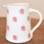 Im 21.2 Ceramic jug straight spiral red 1.0 liter