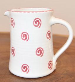 Im 21.2 Ceramic jug straight spiral red 1.0 liter