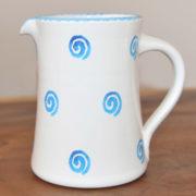 Im 23.1 Ceramic jug straight spiral blue 2.0 liter