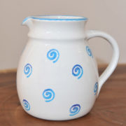 Im 24.1 Ceramic jug bulbous spiral blue 1.5 liter
